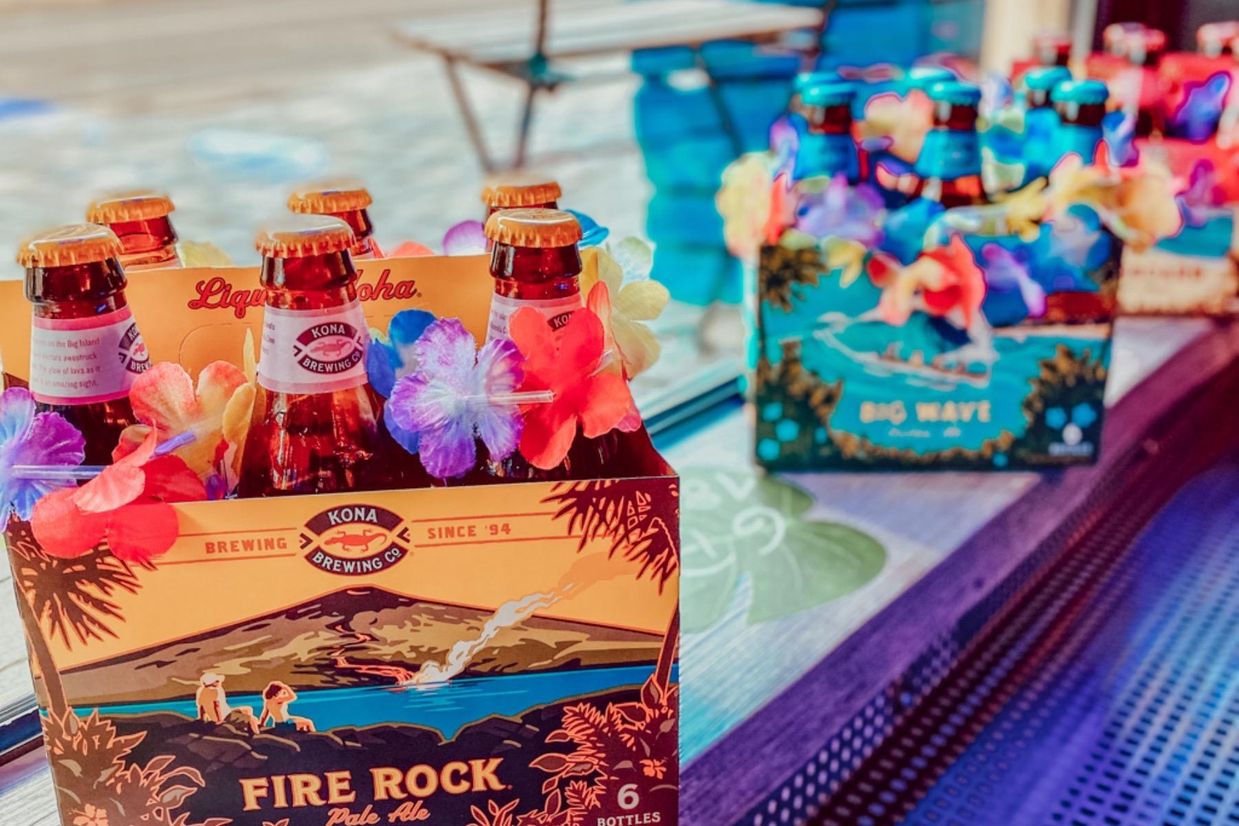 Zum runterspülen gibt´s noch ein leckeres Hawaiianisches Bierchen müsst ihr probiert haben!