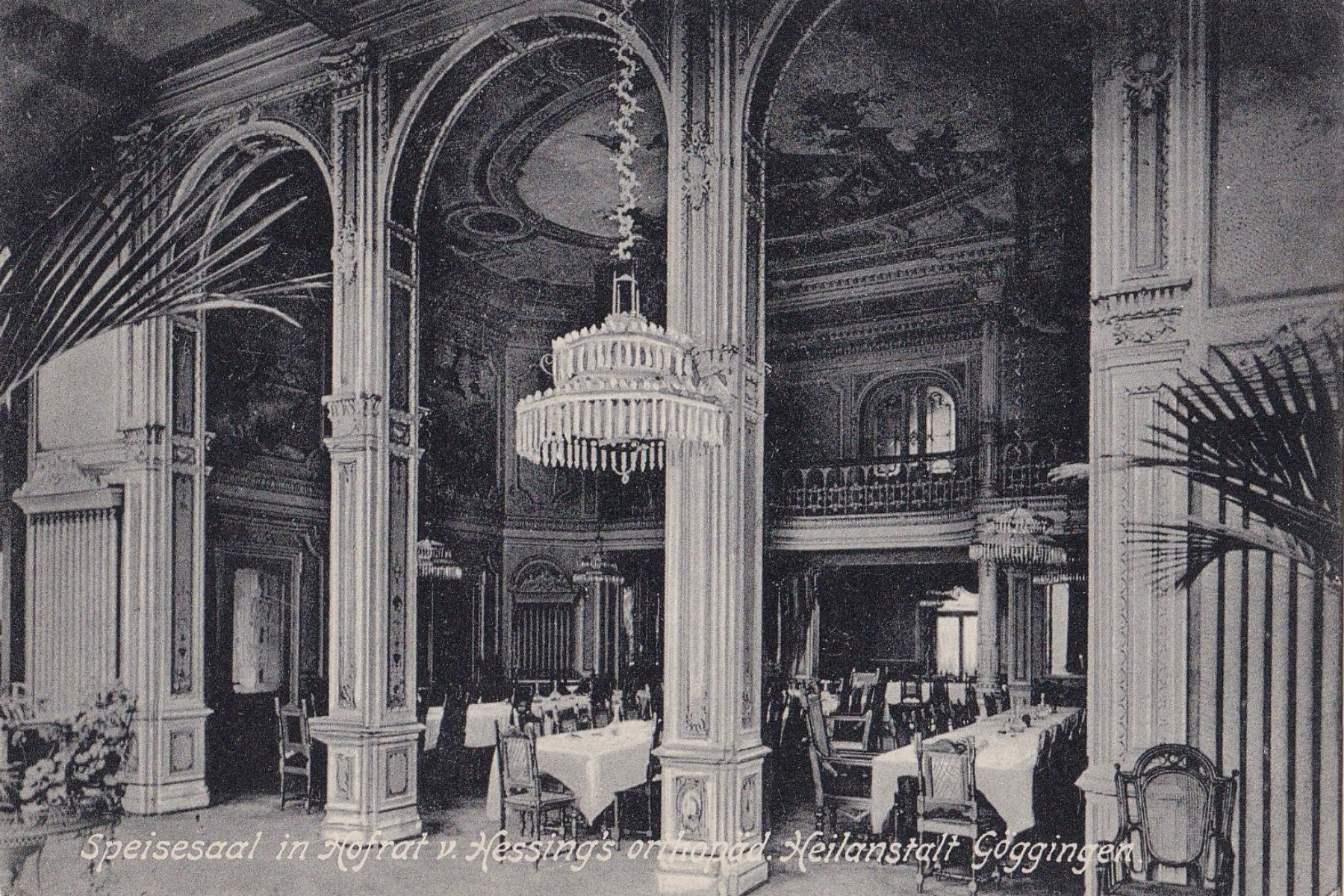 Speisesaal der Hessingklinik um 1900  – ©Privatsammlung Gregor Nagler