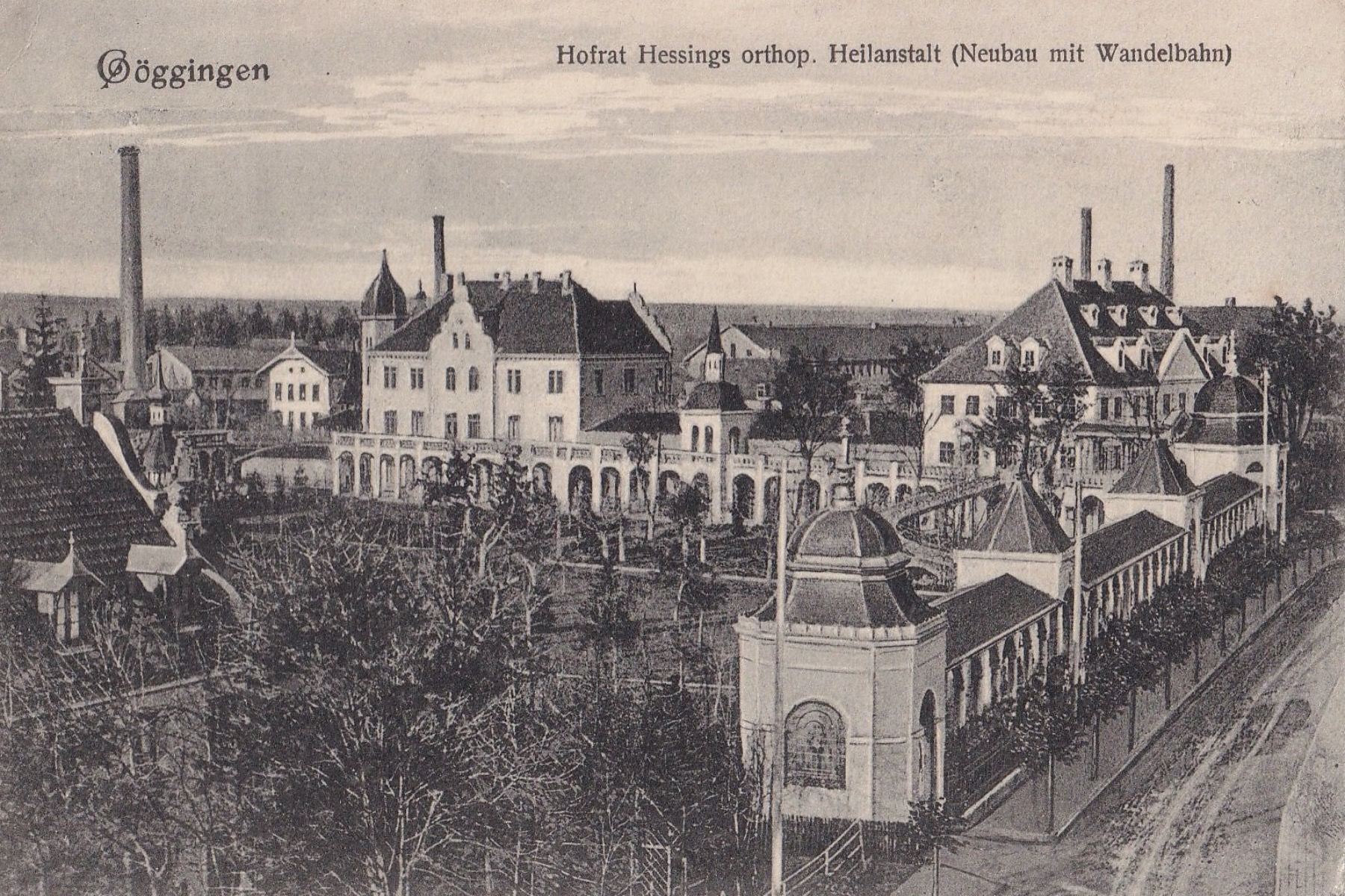 Hessing Klinik und Fabrikareal um 1900  – ©Privat Sammlung Gregor Nagler
