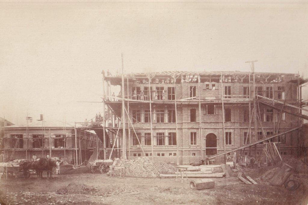 Schulhaus augsburg um 1880 – ©Privatsammlung Gregor Nagler
