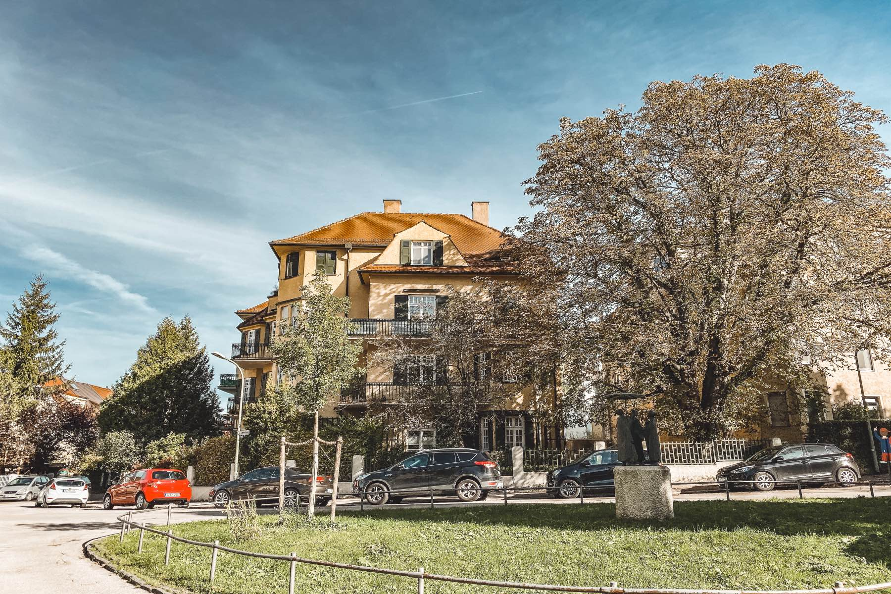 Augsburger Stadtteile Thelottviertel haus mit garten