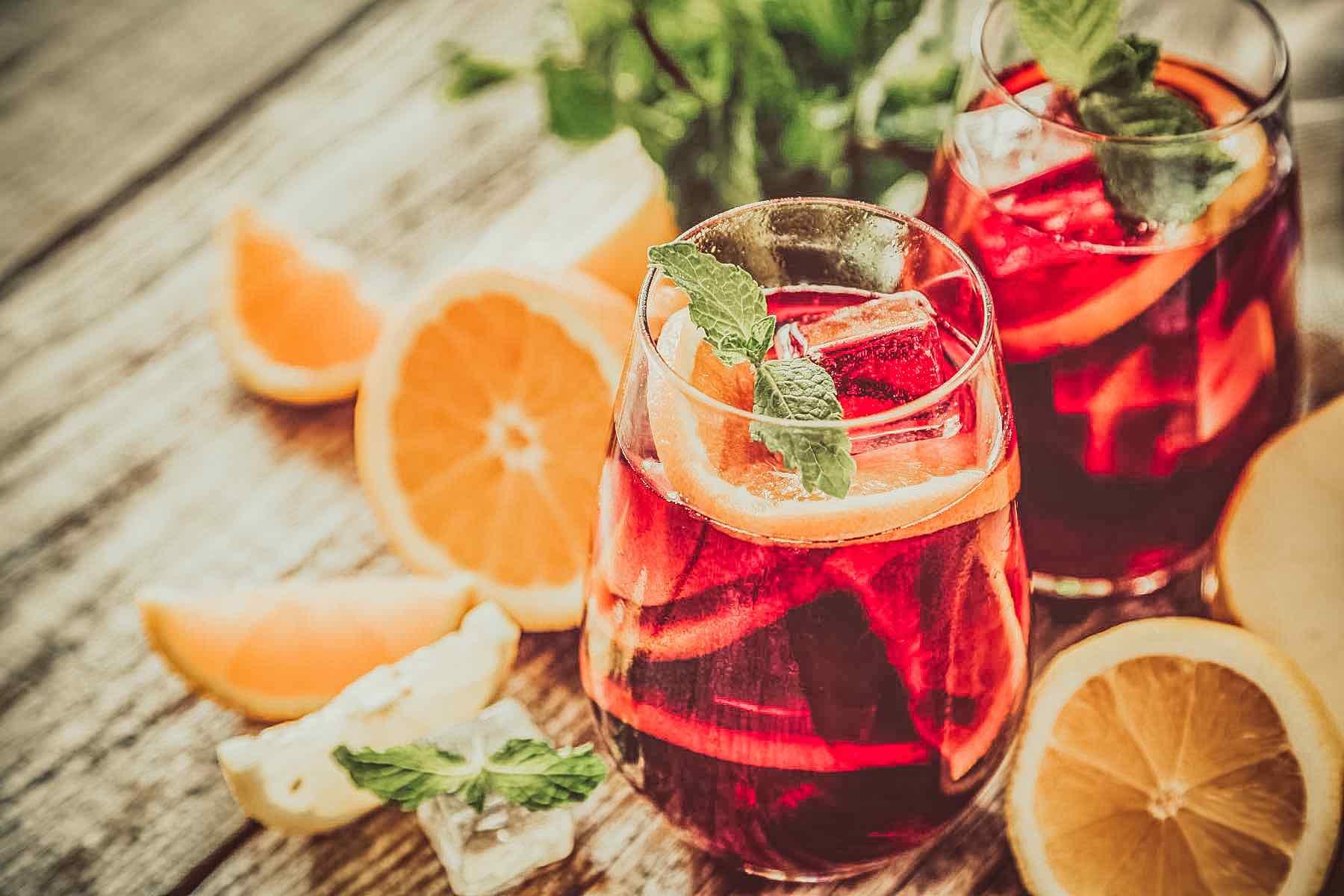 Sangria And Ingredients In Glasses – ©Adobe